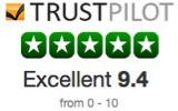 Trust Pilot - Excellent 9.4 logo